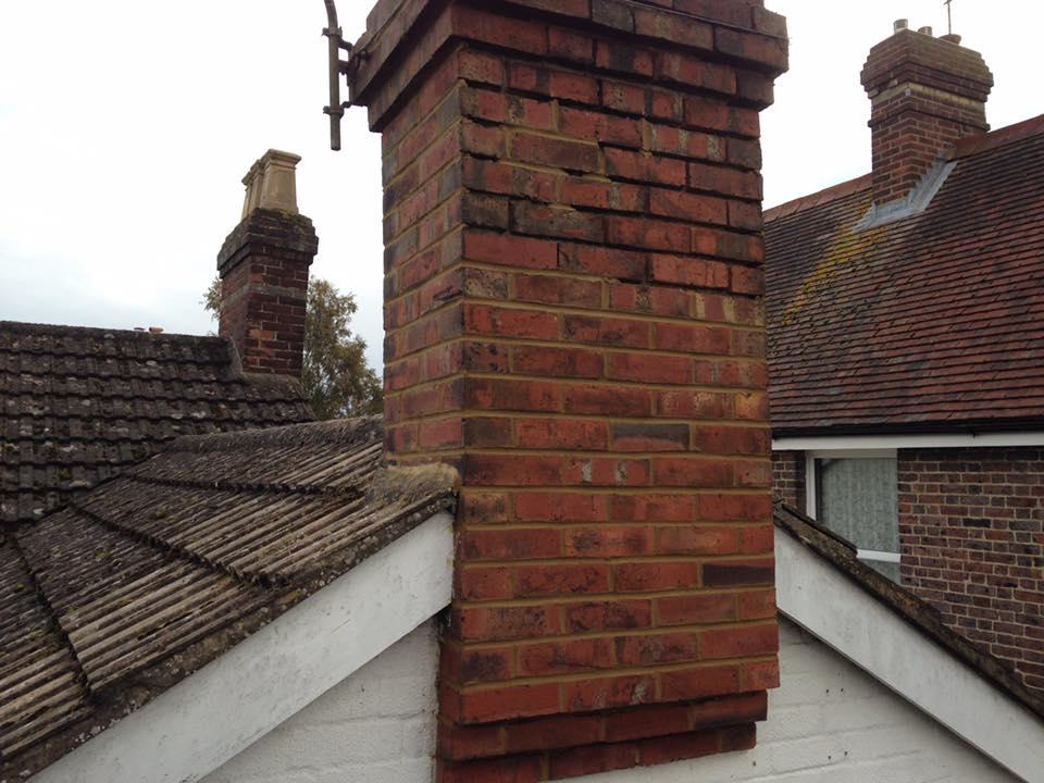 Chimney brickwork