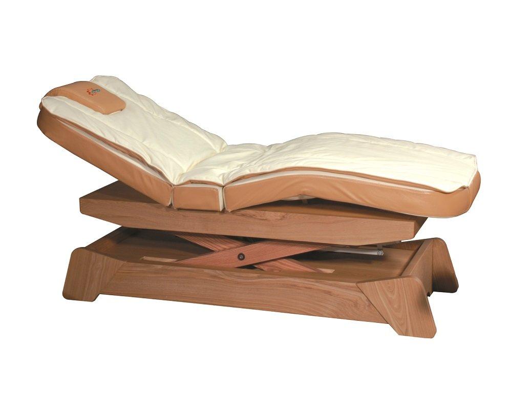 Lettino bianco con base in legno
