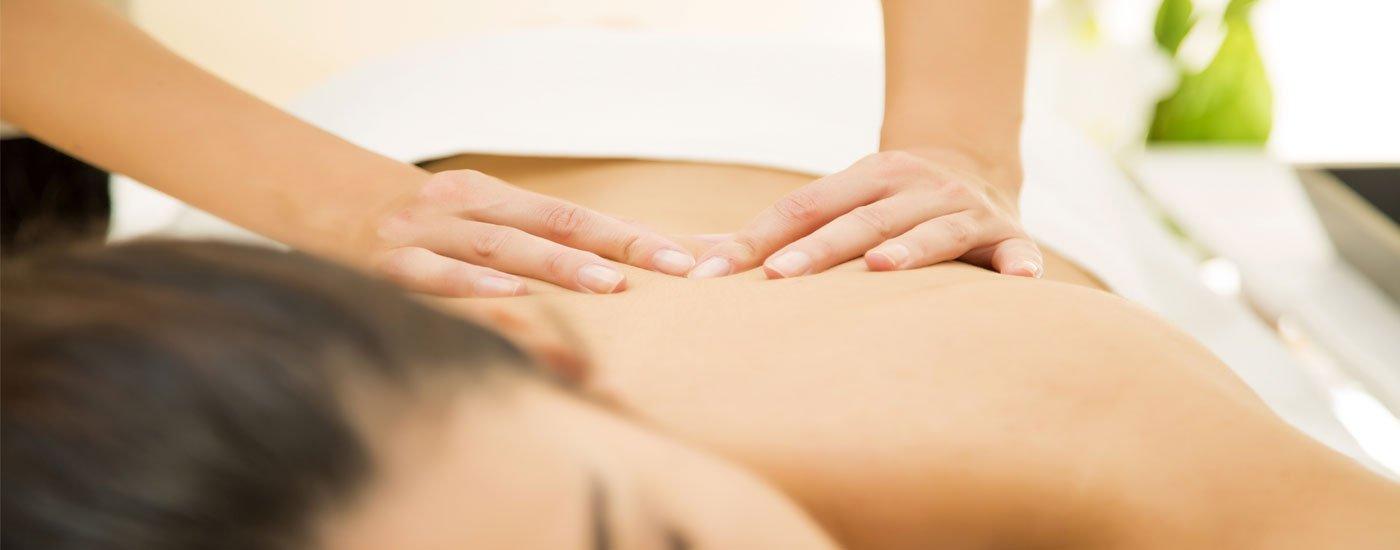 Cliente durante un massaggio