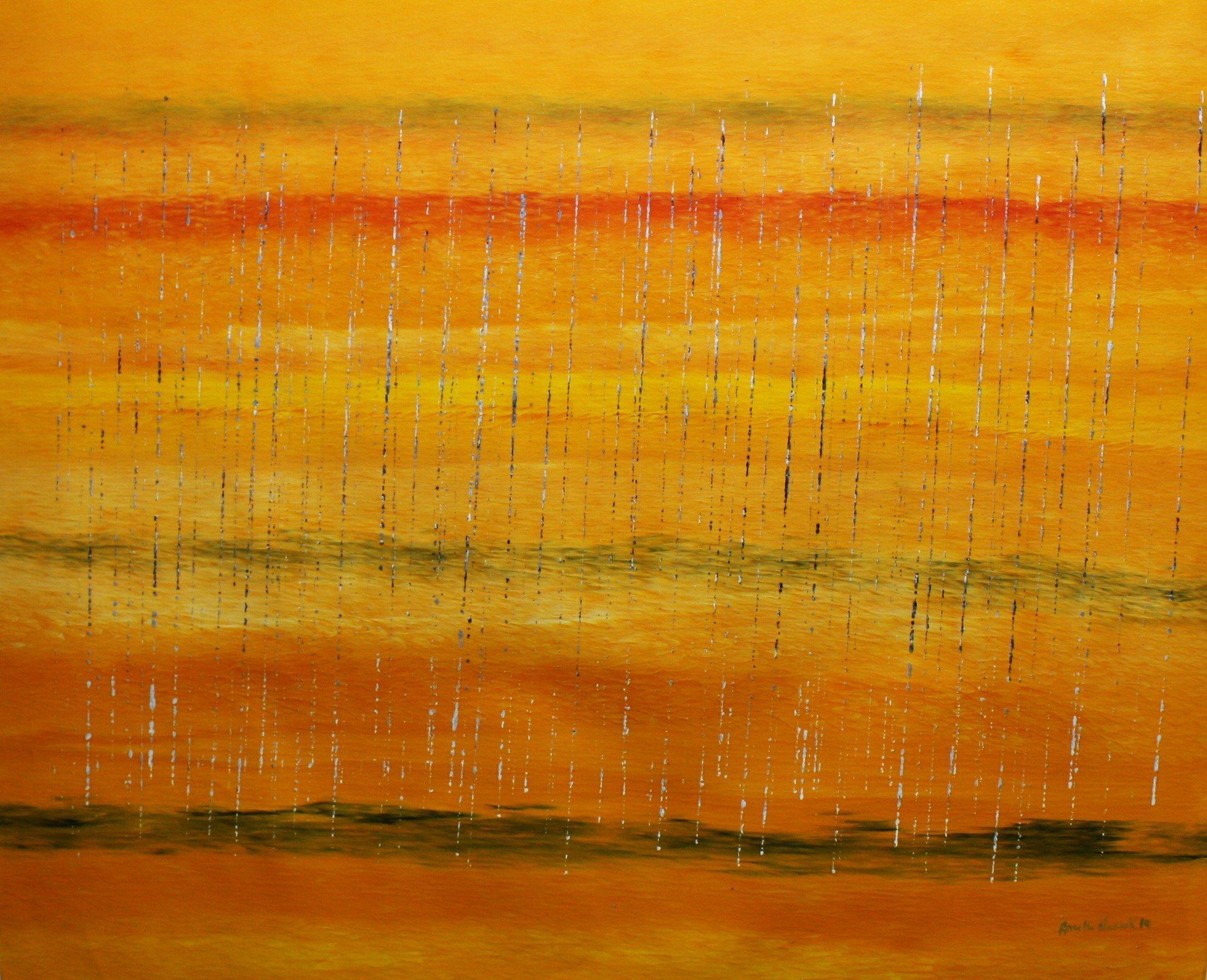 Stinging rain … Yah fall down