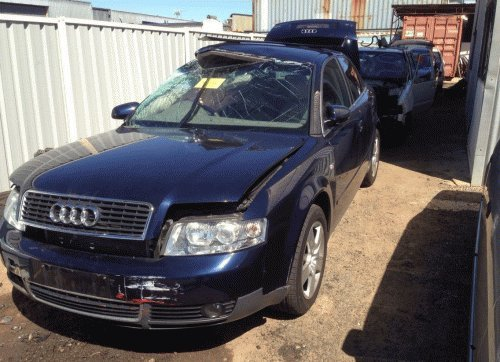 navy audi front left side view