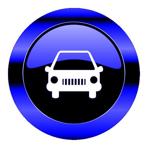 blue car button