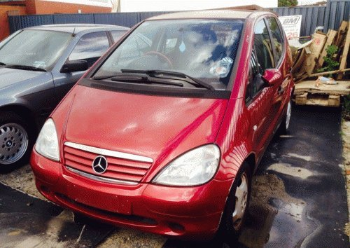 red mercedes front view