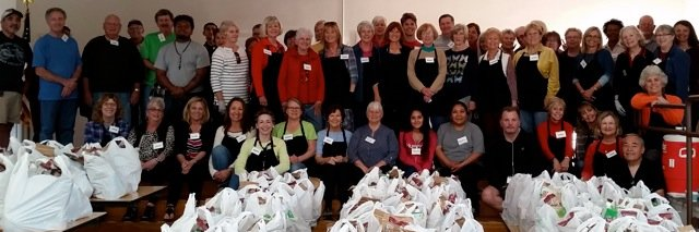 Volunteers distribute Food Bank food at Nipomo Elementary School