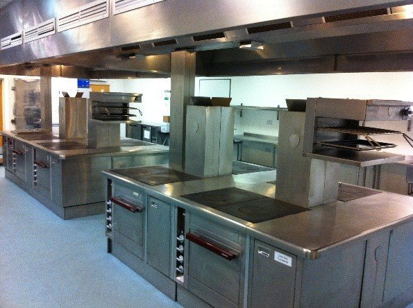 partial view of the catering equipment
