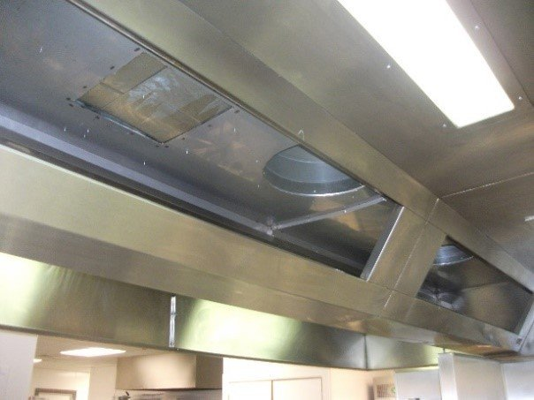 top view of the kitchen equipment