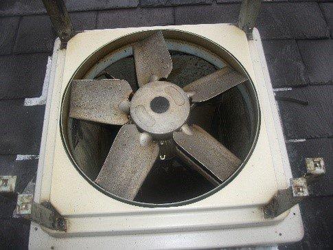 uncleaned fan