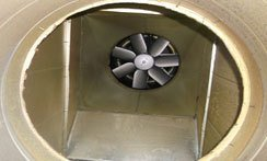 cleaned extractor fan