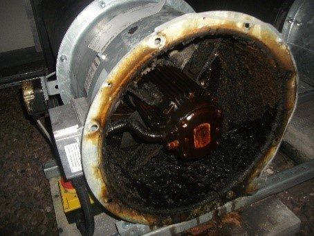 extractor fan dirt