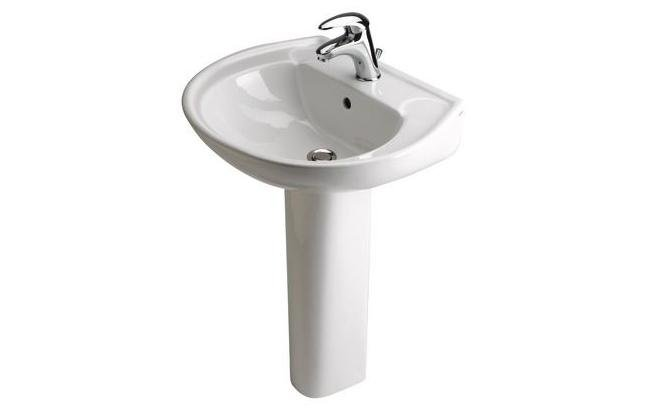 Lavabo con colonna in ceramica