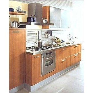 Cucina componibile in legno a doghe Marta