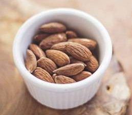 almonds in a small cup