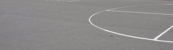 Outdoor court with white markings