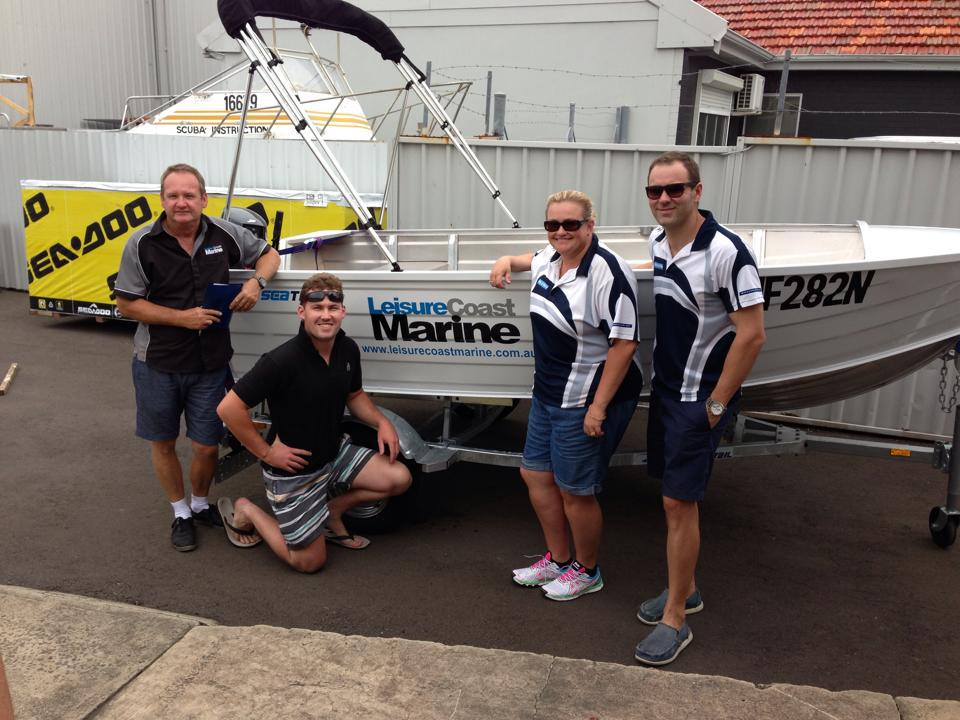 Team of professionals for boat service