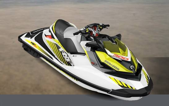 Yellow, black and white watercraft