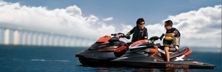 Professional sitting on the jetski