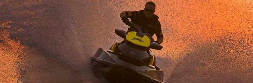 Individual riding a jetski