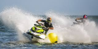 Individual having fun on the jetski
