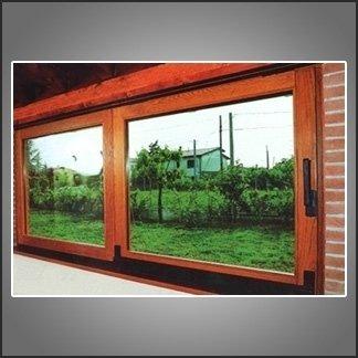 vetrata legno alluminio