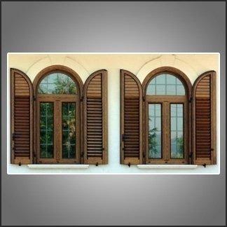 finestre con persiane legno alluminio