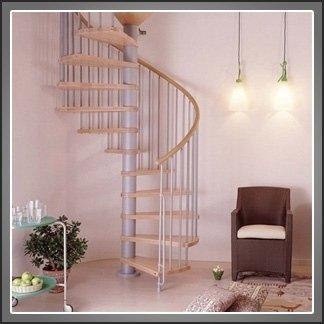 scale a chiocciola in legno e alluminio