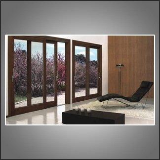 vetrate scorrevoli alluminio e vetro