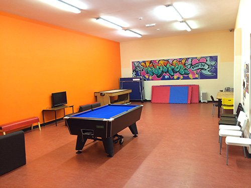 Gaming room at youth services centre in Hadston Morpeth
