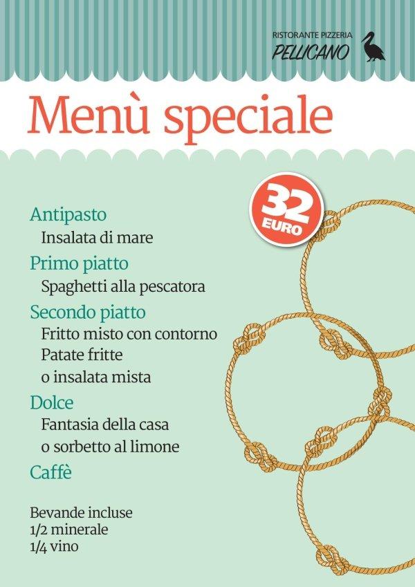 menu speciale pesce
