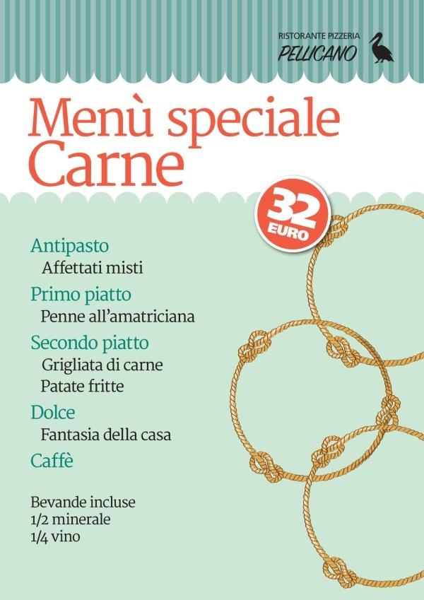 menu speciale carne
