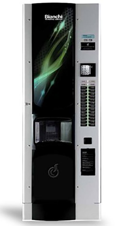Distributore automatico bianco