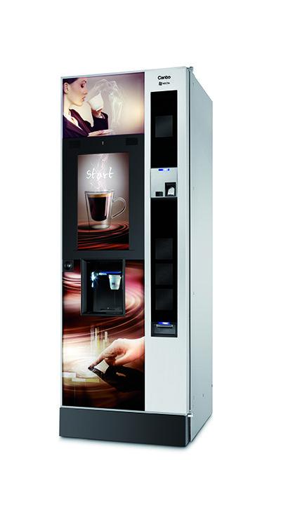 Distributore automatico con al centro l'immagine di una tazza