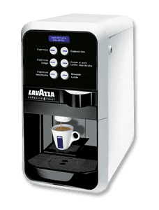 macchina da caffè lavazza bianca e nera