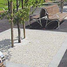 Flowstone around an outdoor garden area