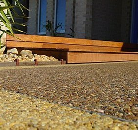 Pebble paving application