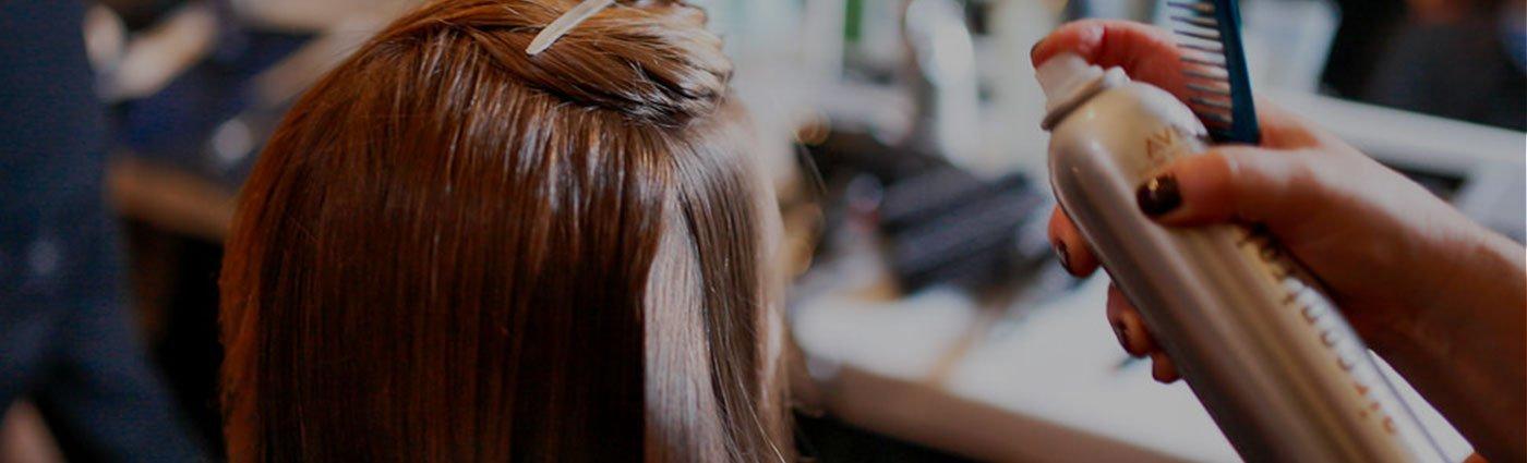hair with spraynet