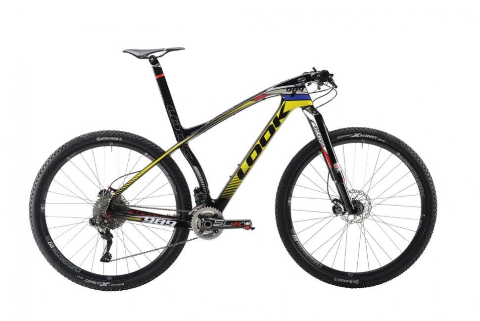 Mountain bike con telaio giallo e nero