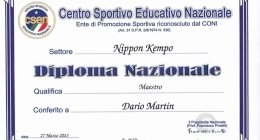 NIPPON KEMPO DIPLOMA MAESTRO VARESE