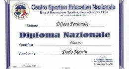 DIFESA PERSONALE DIPLOMA MAESTRO VARESE