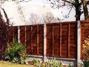 Waney Edge Panel - erected