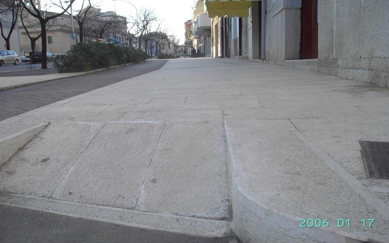Pavimentazione puntellata