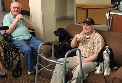 Lexi and Chaucer Visit the Texas State Veterans Home
