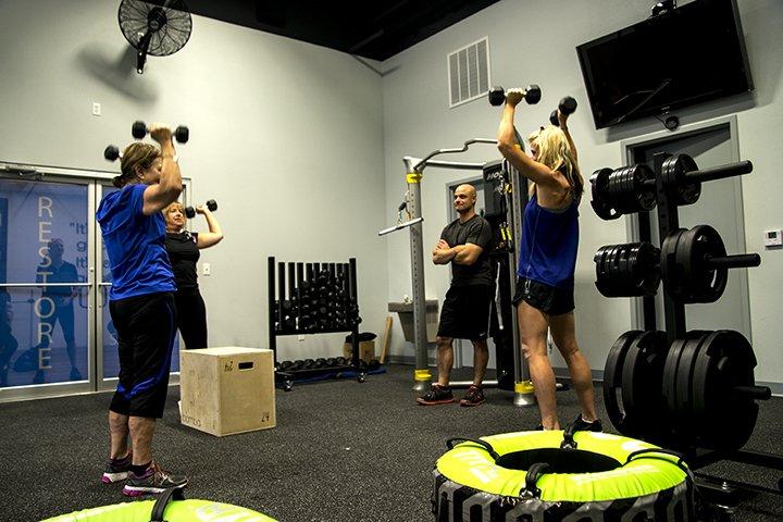 Private fitness training in Bentonville, Arkansas.