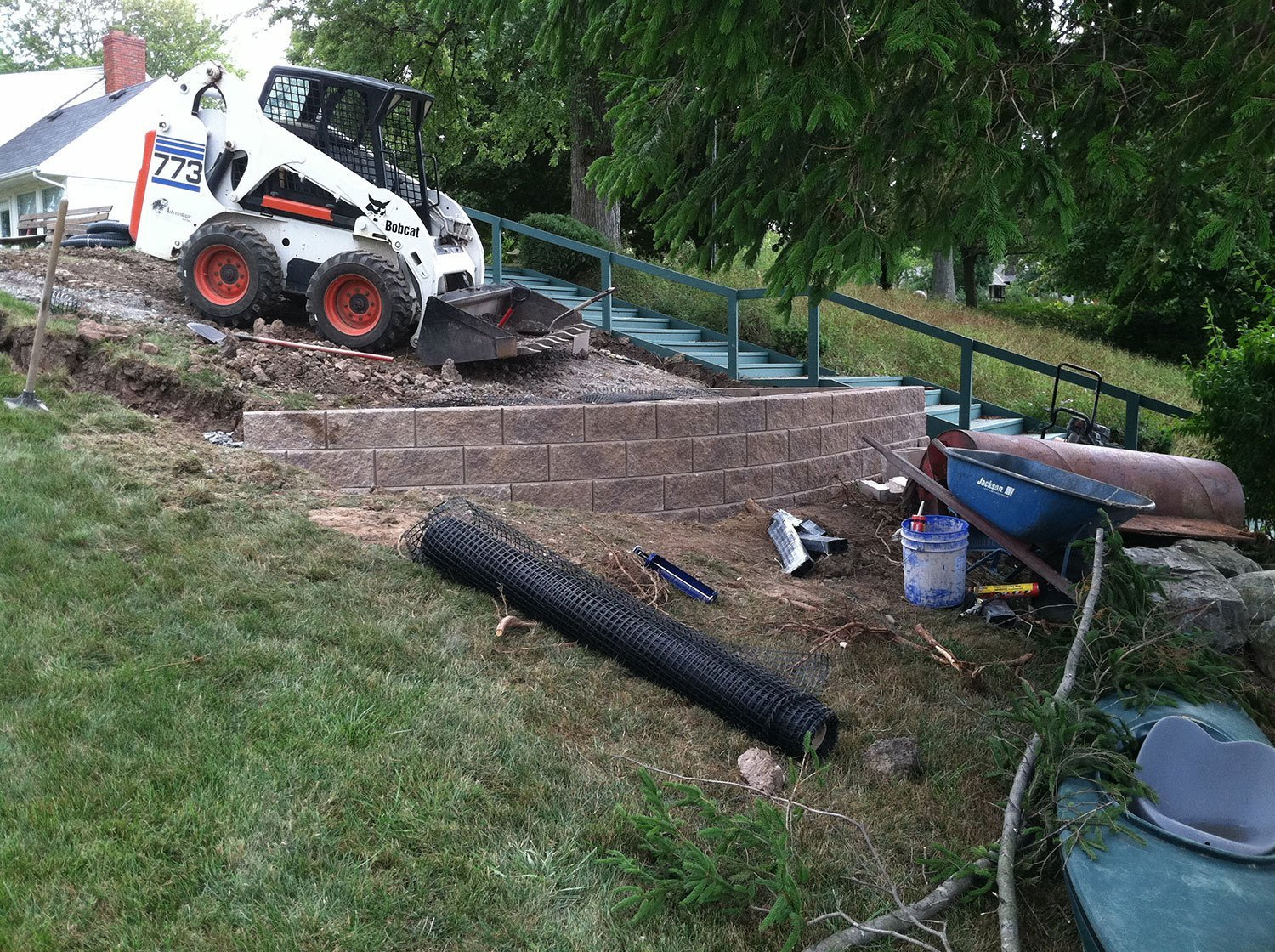 retaining wall installation - Amherst, NY