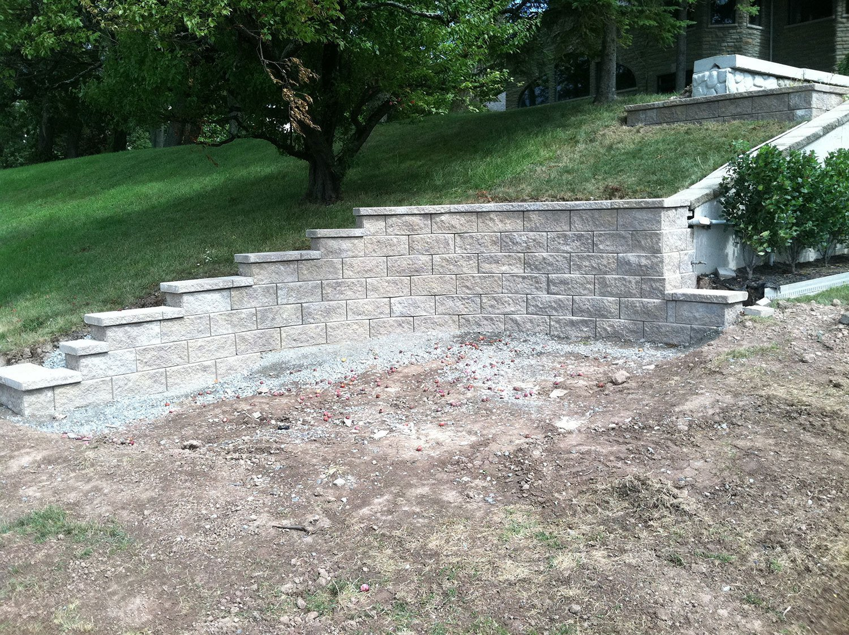 residential retaining walls - Wheatfield, NY