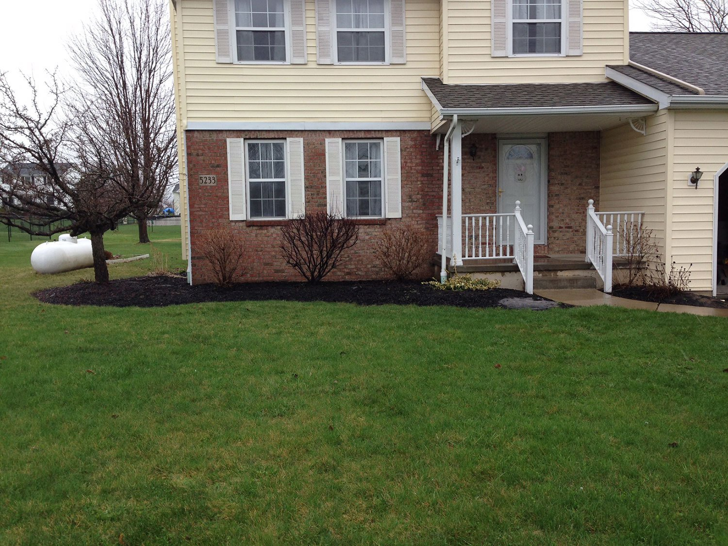 front yard landscaping design - Amherst, NY