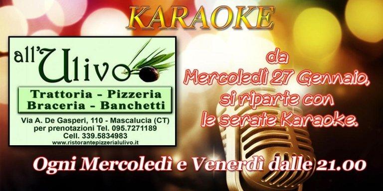 serate karaoke al ristorante l'ulivo