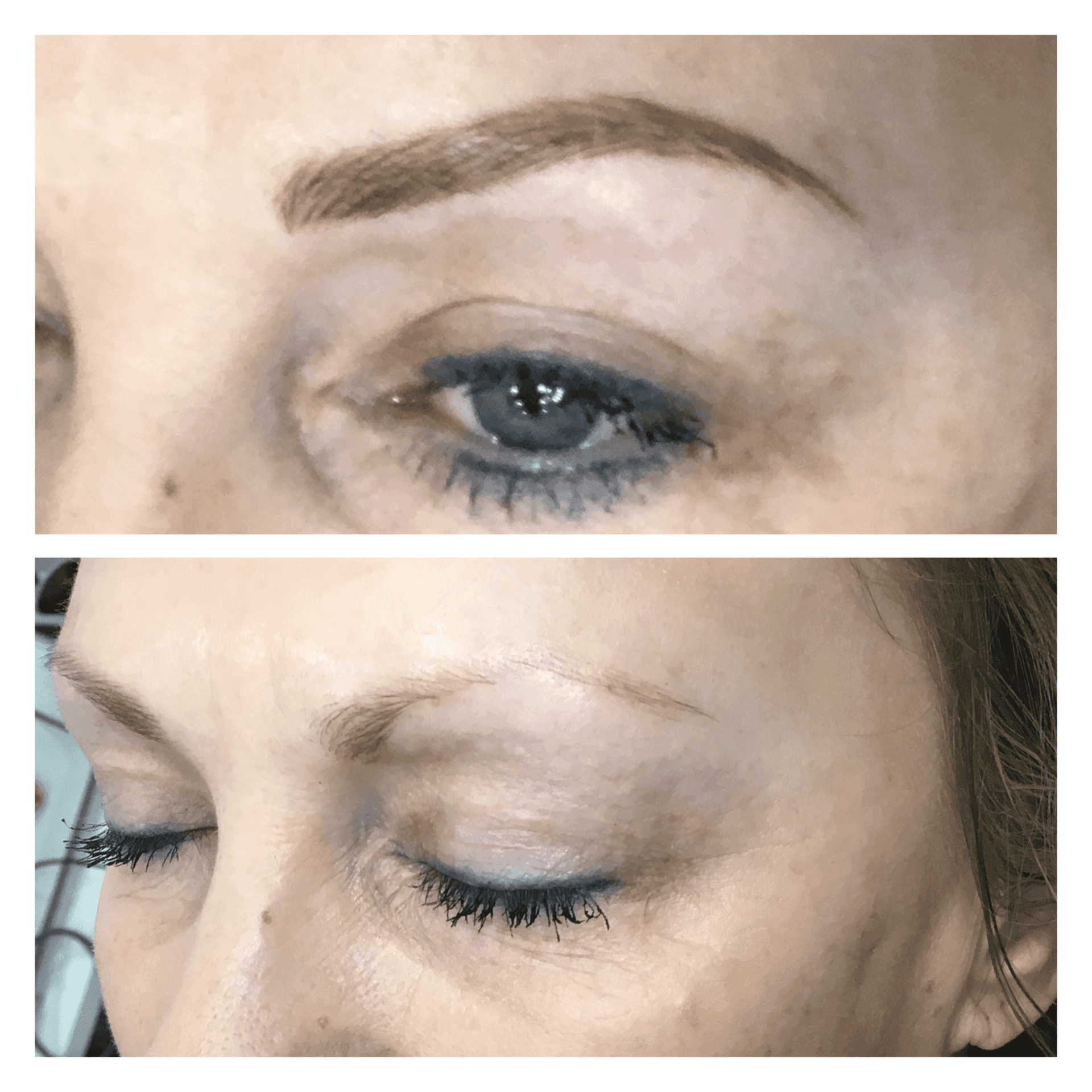Before & after eye make up
