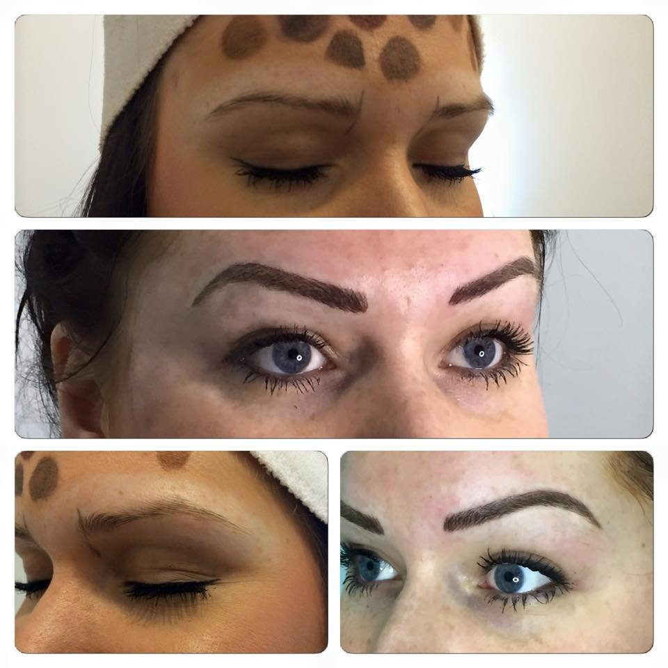 dark eyebrows
