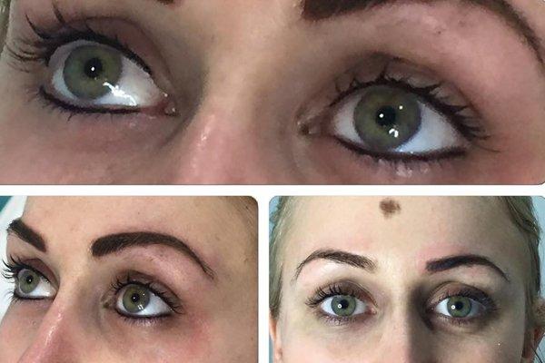 Semi permanent eye make up
