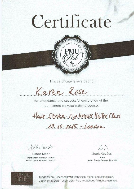PMU certificate
